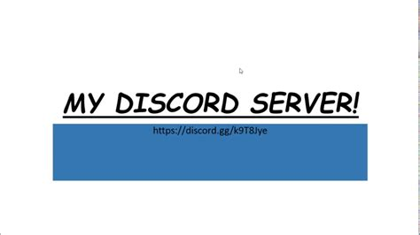 discord join server join my discord server youtube