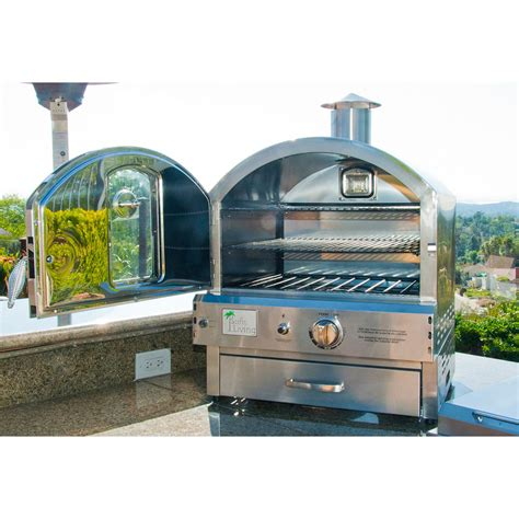 Oven Gas Pizza pacific living stainless steel outdoor tabletop gas pizza