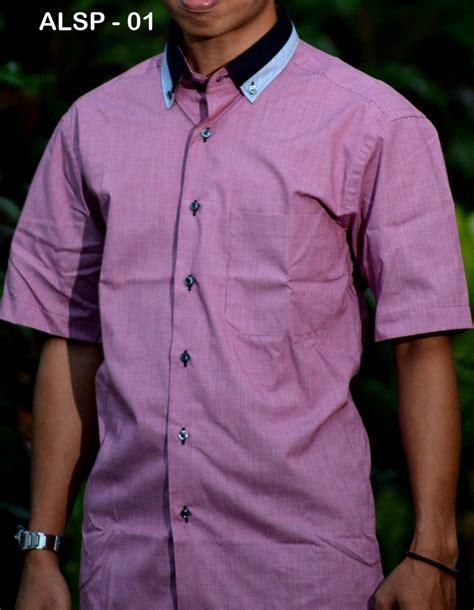 Baju Batik Kemeja Pria Slim Fit Lengan Pendek Keren Kode Ob 320 kemeja lengan pendek slim fit busanamuslimpria