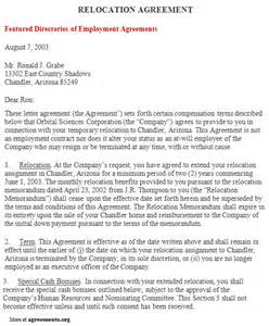 relocation package template relocation agreement sle relocation agreement template