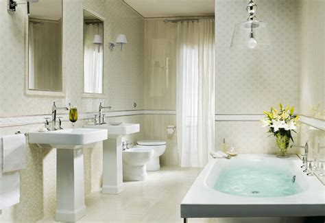 Traditional Bathroom Design Ideas Traditional White Tiled Bathroom Design Interior Design