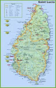 map of st and st lucia tourist map