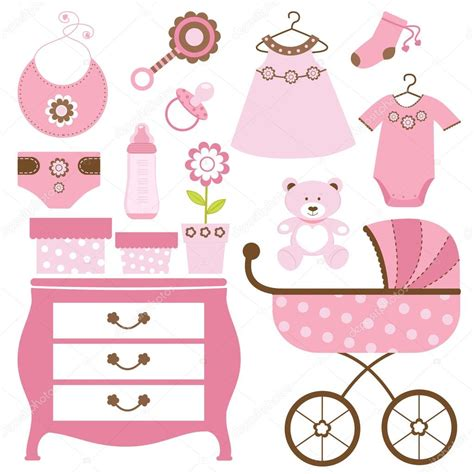 Free Ong Bag Baby 5in1 baby shower in pink stock vector 169 japanez 19235297