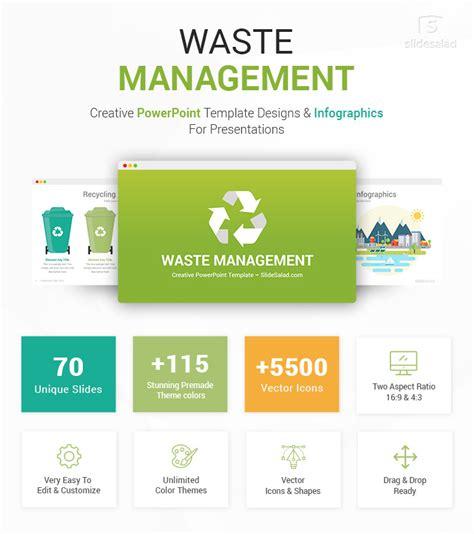 waste management ppt waste management powerpoint template infographics slidesalad