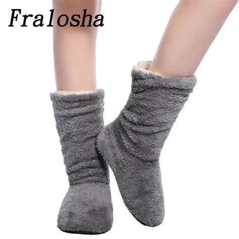sock house shoes fralosha women plush home shoes slippers coral fleece