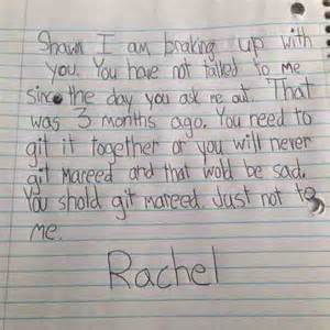 Sad Break Letters For Him this little girl s breakup letter will have you laughing out loud