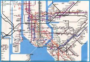 New York Subway Map With Streets by New York Metro Subway Map Travel Map Vacations