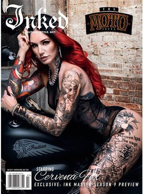 heartbeat ink tattoo magazine inked magazine quot moto quot edition featuring cervena fox july