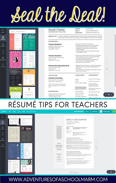 Creative Ways To Teach Resume Writing by R 233 Sum 233 Writing For Teachers Adventures Of A Schoolmarm