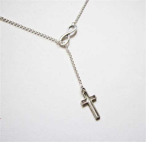 infinity cross necklace infinity necklace cross and infinity necklace y necklace