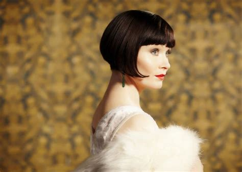 essie davis ob hair essie davis in a bob as phryne fisher in miss fisher s
