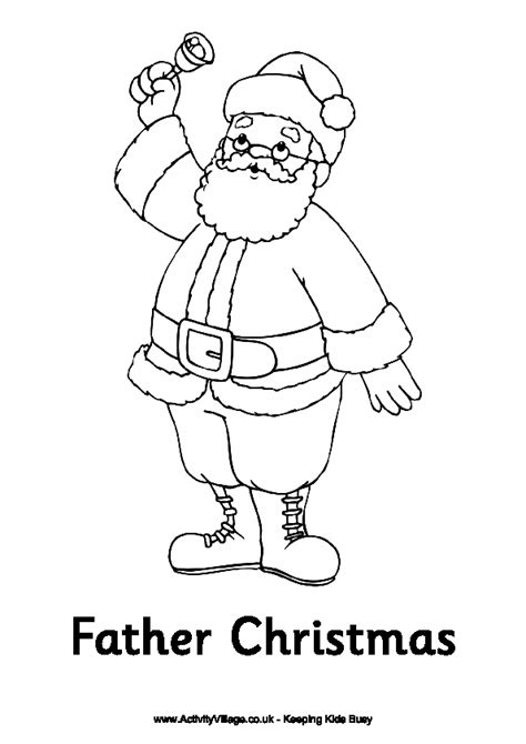 father christmas colouring page colouring pages for kids