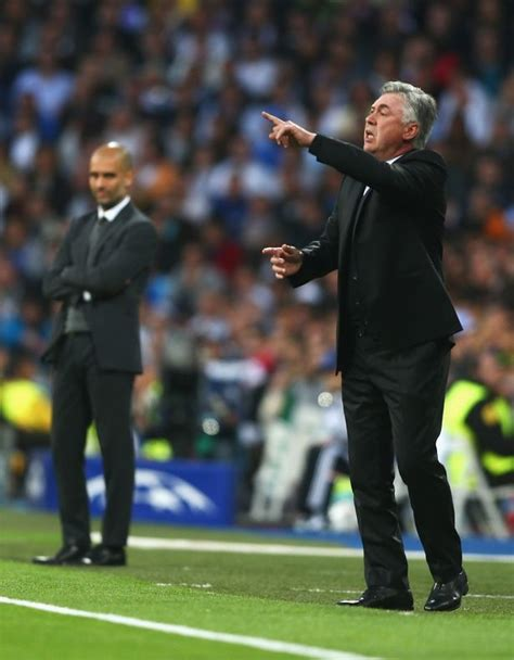 Waterproof Carlo Ancelotti Real Madrid Uefa pep guardiola left carlo ancelotti a message in bayern