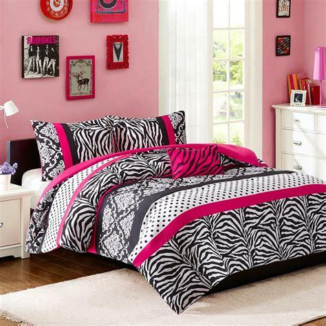 modern chic girls pink teal blue black zebra stripe dots comforter set pillow ebay