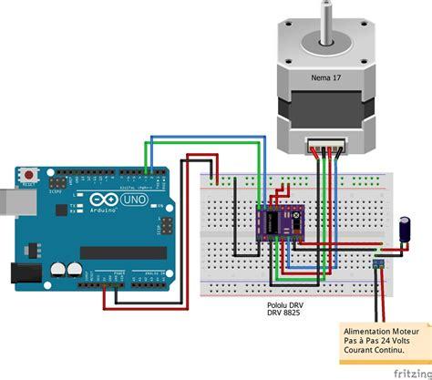 arduino code drv8825 r 233 glage des drivers pour moteurs pas 224 pas pololu a4988