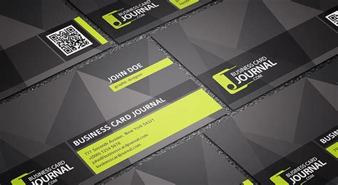 Cool Business Card Templates Photoshop by Free Cool Unique Business Card Template With Qr Code