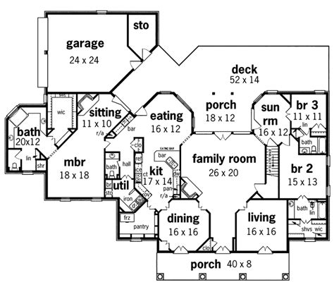 single story mansion floor plans whispering manor one story home plan 020s 0015 house