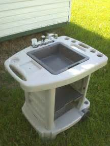 portable outdoor sink garden c kitchen cing rv new