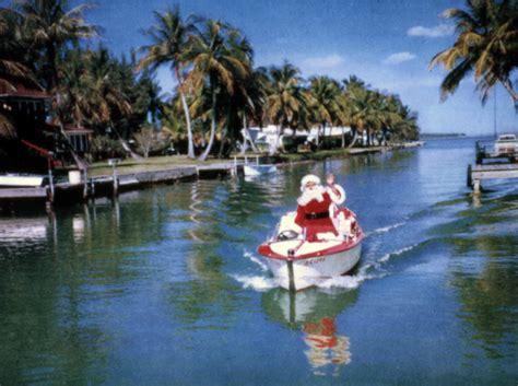 Sarasota Florida Court Records Florida Memory View Showing Santa Claus Boating In Sarasota Florida