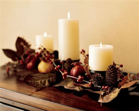 Simple Thanksgiving Table Decorations by Thanksgiving Table Centerpiece With Pine Cones And Pomegranates Decoist