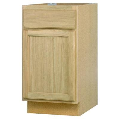 home depot unfinished kitchen cabinets 18x34 5x24 in base cabinet in unfinished oak b18ohd the home depot