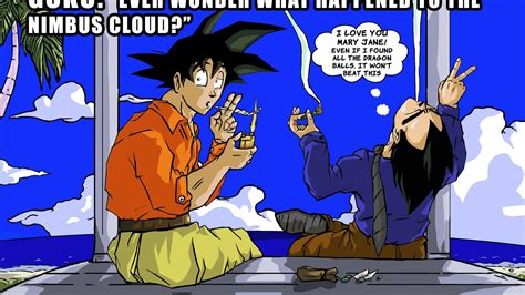 Dragon ball z hashish memes nimbus cloud wallpaper   (20183)
