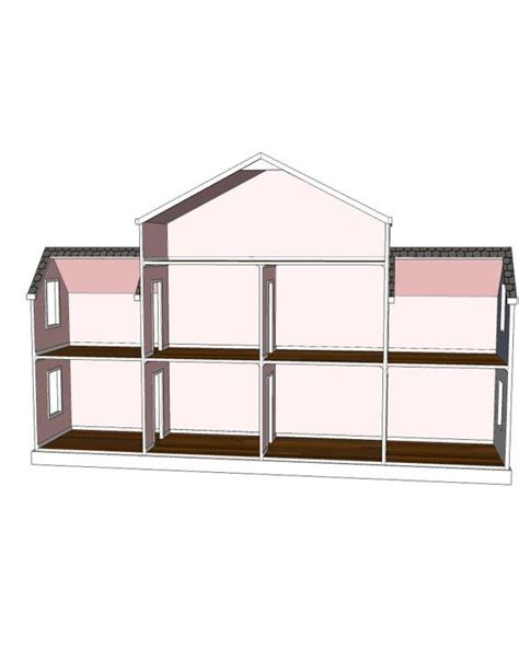 18 doll house plans doll house plans 9 room option for american girl or 18 inch dolls