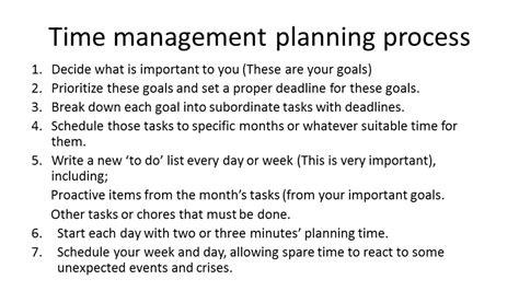 05 time management planning process time management skills