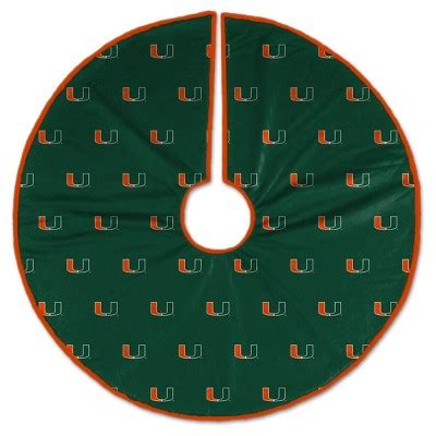 target christmas tree skirt ncaa miami hurricanes tree skirt target
