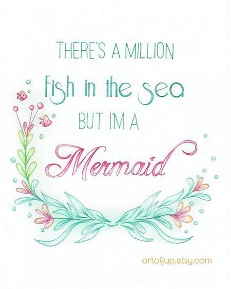 printable quotes tumblr mermaid art quote water color art print quote by artofjup
