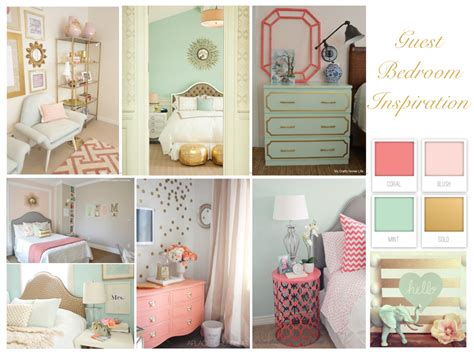 mint and coral home decor guest bedroom inspiration coral mint and gold perfection