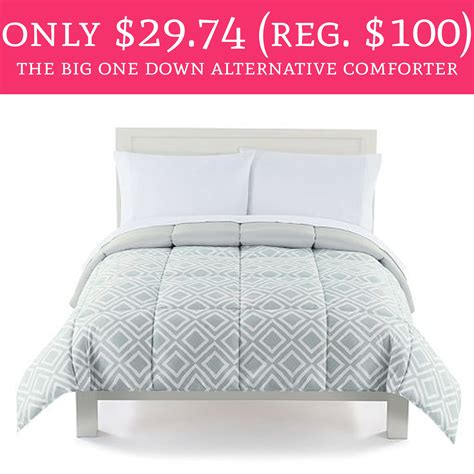 the big one comforter only 29 74 regular 100 the big one down alternative