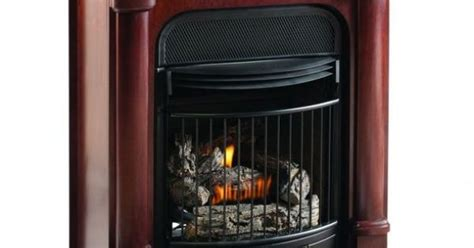 Gas Fireplace Thermostat by Procom Compact Vent Free Gas Fireplace Dual Use Surround