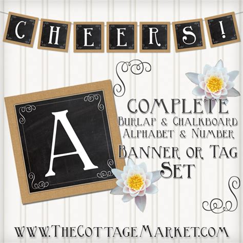 printable chalkboard letters cake bunting uploaded by user