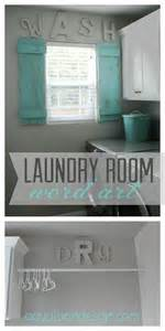 cute laundry room word art letters painted the same color