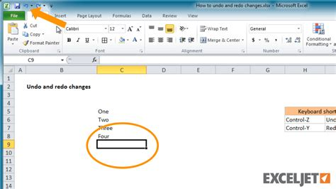 Command Pattern Java Exle Undo   excel tutorial how to undo and redo changes in excel