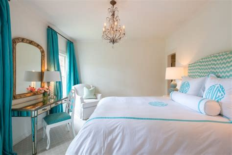 turquoise white bedroom turquoise drapes transitional bedroom munger interiors