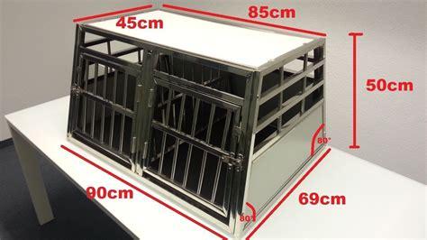 gabbie per cani in alluminio trasportino gabbia box in alluminio 90x69x50cm