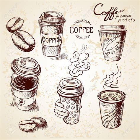 doodle bar drawing 37358740 doodle sketch vintage paper cup of