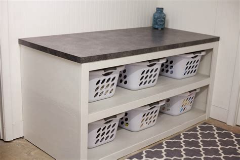 Laundry Sorter With Folding Table Laundry Room Office Space Reveal Just Julie