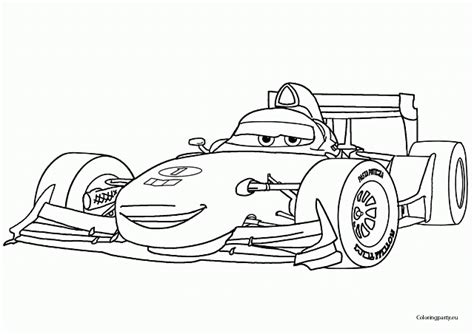 printable coloring pages cars 2 francesco bernouilli formula 1 cars 2 da colorare