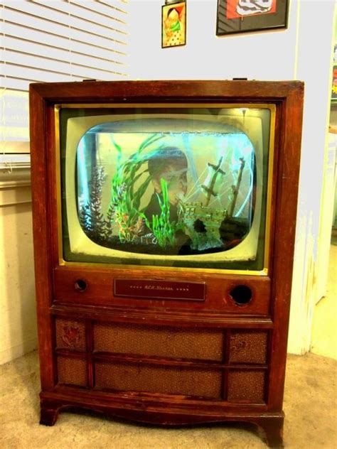 Tv Aquarium tv aquarium the tv parts were gutted and we just set the aquarium in it my house will be
