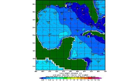 caribbean sea gulf  mexico ocean wave height forecast cruise ship weather