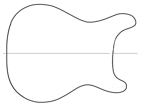 guitar design template guitar outline clip cliparts co