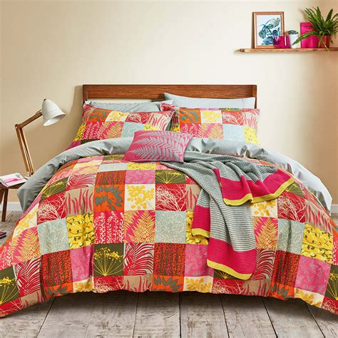 buy clarissa hulse mini patchwork duvet set pink king