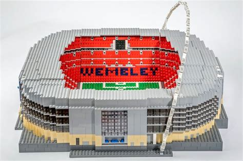 How To Make A Football Stadium Out Of Paper - lego loving football fan sets out to recreate more than
