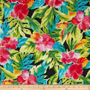 tropical colours splash of color tropical leaves black discount designer