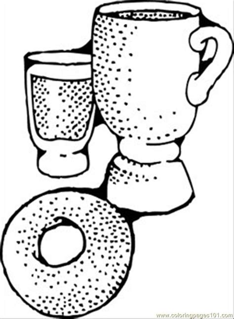 coloring pages continental breakfast food fruits