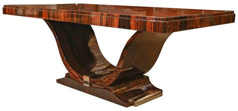 leon jallot rosewood dining conference table art deco