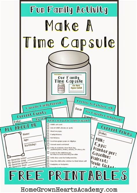 printable time capsule sheets free make a time capsule printables current events make